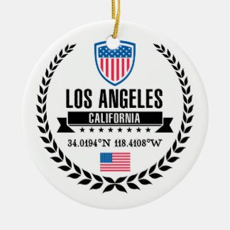 Los Angeles Ceramic Ornament