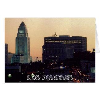 Los Angeles City Hall at Dusk card