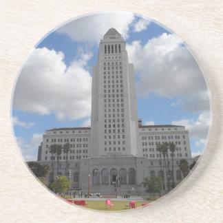 Los Angeles City Hall Beverage Coaster