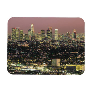 Los Angeles Cityscape at Night Magnet