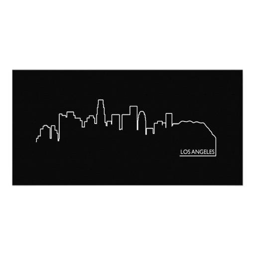 Los Angeles cityscape Customized Photo Card