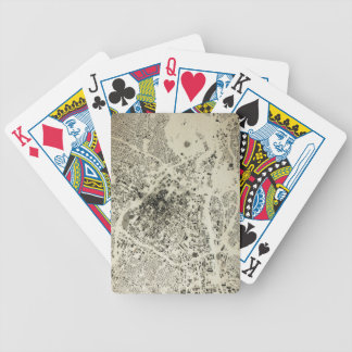 Los Angeles Downtown Streets and Buildings Vintage Bicycle Playing Cards