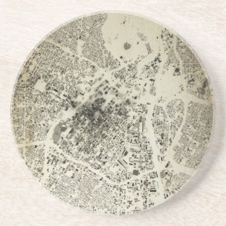 Los Angeles Downtown Streets and Buildings Vintage Coaster