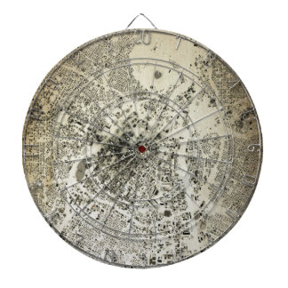 Los Angeles Downtown Streets and Buildings Vintage Dartboard