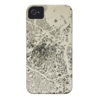 Los Angeles Downtown Streets and Buildings Vintage iPhone 4 Case