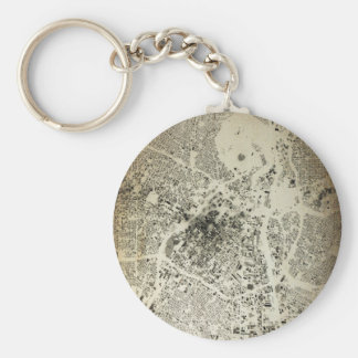Los Angeles Downtown Streets and Buildings Vintage Keychain