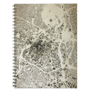 Los Angeles Downtown Streets and Buildings Vintage Notebook