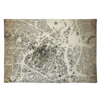 Los Angeles Downtown Streets and Buildings Vintage Placemat