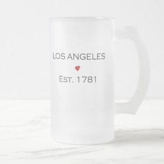 Los Angeles Est. 1781 Frosted Glass Beer Mug