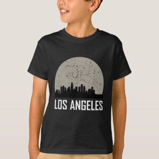 Los Angeles Full Moon Skyline T-Shirt