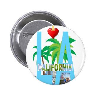 los angeles  l a california city usa america 2 inch round button