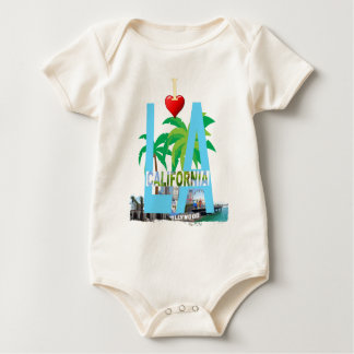 los angeles  l a california city usa america baby bodysuit