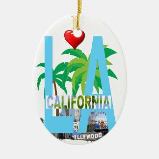 los angeles  l a california city usa america ceramic ornament