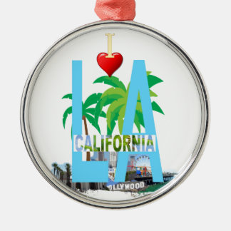 los angeles  l a california city usa america metal ornament