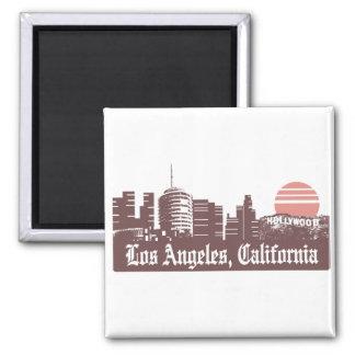Los Angeles Linesky Square Magnet