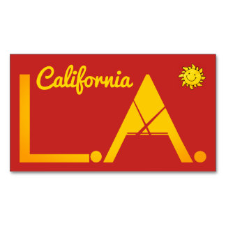 Los Angeles Magnetic Business Card
