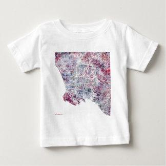 Los Angeles map California watercolor painting Baby T-Shirt