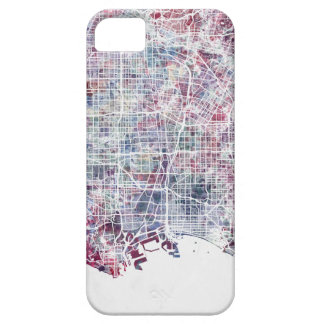 Los Angeles map California watercolor painting Case For The iPhone 5