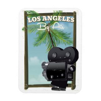 Los Angeles Movie Camera travel poster Magnet