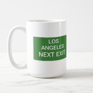 Los Angeles Next Exit Sign Coffee Mug