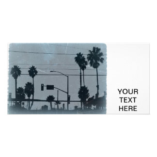 Los Angeles Palm Trees Customized Photo Card