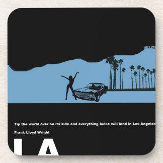 Los Angeles Poster Drink Coasters