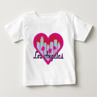 Los Angeles Skyline Heart Baby T-Shirt