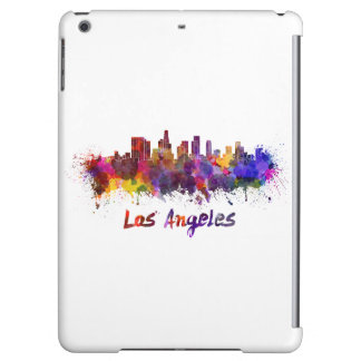 Los Angeles skyline in watercolor iPad Air Cover