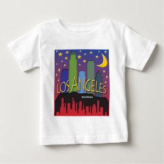 Los Angeles Skyline nighlife Baby T-Shirt