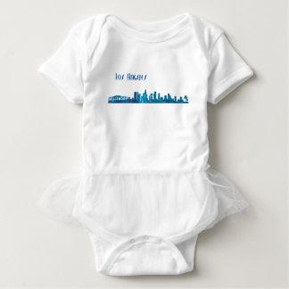Los Angeles Skyline Silhouette Baby Bodysuit