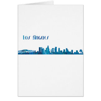 Los Angeles Skyline Silhouette Card