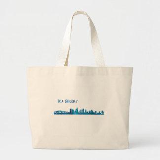 Los Angeles Skyline Silhouette Large Tote Bag