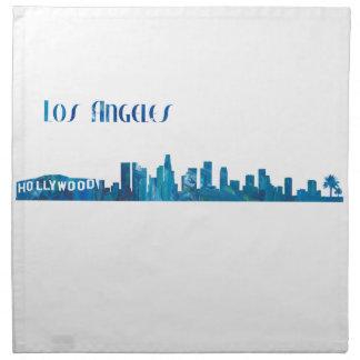 Los Angeles Skyline Silhouette Napkin