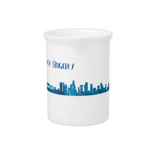 Los Angeles Skyline Silhouette Pitcher