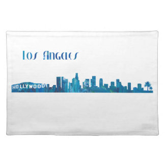 Los Angeles Skyline Silhouette Placemat