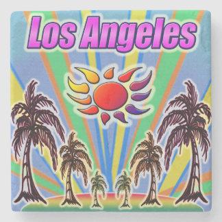 Los Angeles Summer Love Coaster Stone Beverage Coaster