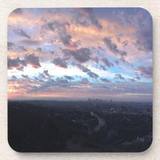 Los Angeles Sunrise off Mulholland Dr Beverage Coaster