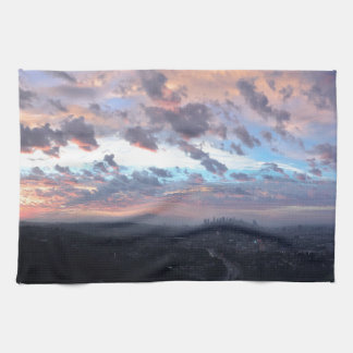 Los Angeles Sunrise off Mulholland Dr Hand Towels