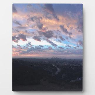 Los Angeles Sunrise off Mulholland Dr Plaque