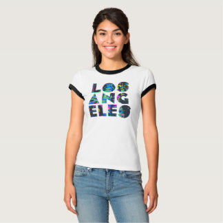 Los Angeles T-Shirt 80s Grunge Pattern