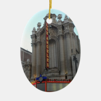 Los Angeles Theater Ceramic Oval Ornament