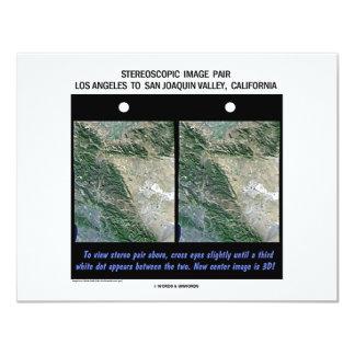 "Los Angeles To San Joaquin Valley, California 4.25"" X 5.5"" Invitation Card"