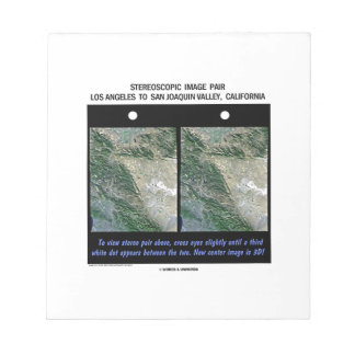 Los Angeles To San Joaquin Valley, California Note Pads