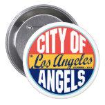 Los Angeles Vintage Label 3 Inch Round Button