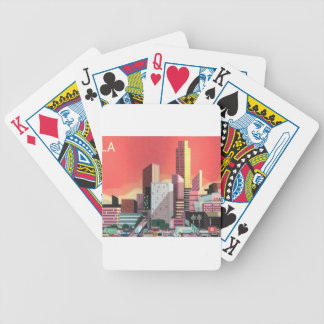 Los Angeles Vintage Travel Bicycle Playing Cards
