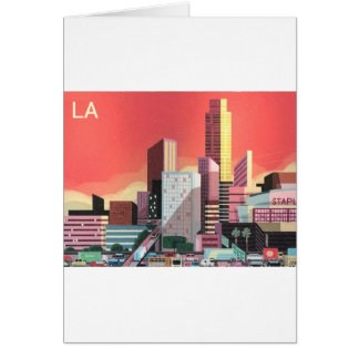 Los Angeles Vintage Travel Card