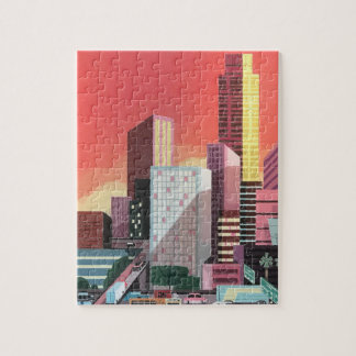 Los Angeles Vintage Travel Jigsaw Puzzle