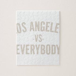 Los Angeles Vs Everybody Jigsaw Puzzle