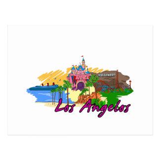 Los Angelos - California - USA.png Postcard