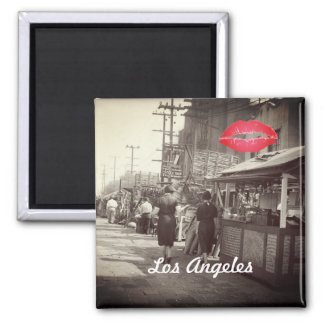 Los Angles California 1935 Olivera Street Photo Magnet